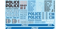 GOFER RACING GOF11024 1/24 / 1/24 Modern Police Decal Sheet