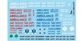 "GOFER RACING GOF11026 1/24 / 1/25 ""Racing Ambulance"" Waterslide Decals"
