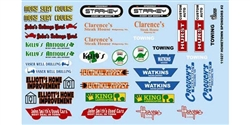 "GOFER RACING GOF11027 1/24 / 1/25 Racing ""Hometown Sponsors #2"" Decal Sheet"