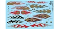 "GOFER RACING GOF11030 1/24 / 1/25 ""GOLD FLAMES"" Decal Sheet"