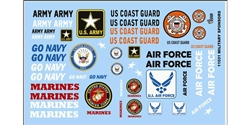 "GOFER RACING GOF11031 1/24 / 1/25 ""ARMED SERVICES"" Decal Sheet"