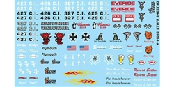 "GOFER RACING GOF11035 1/24 / 1/25 Racing ""Graphic Stuff #3"" Decal Sheet"
