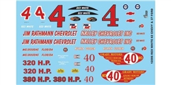 "GOFER RACING GOF12006 1/24 / 1/25 Racing ""#4 Rex White"" Decal Sheet"