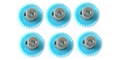 "H&R Racing HR0227-6 27 Tooth 48 Pitch Crown Gear for 1/8"" Axle 6 Pack"