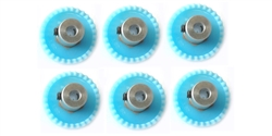 "H&R Racing HR0229-6 29 Tooth 48 Pitch Crown Gear for 1/8"" Axle 6 Pack"
