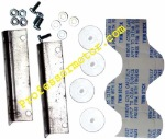 H&R Racing HR0502 1/24 Body mounting kit - L Plates, Buttons, Bolts and double stick tape