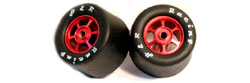 H&R Racing HR1367 27 x 18mm RUBBER Tires RED Hubs