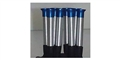 JDS JDS4008 1/24 Aluminum Velocity Stacks - BLUE Anodized Tips