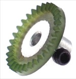 "JK Products JK5032 64 pitch inline axle gear for 3/32"" axle - 32 teeth - 1 Gear / Package"