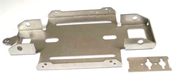 "JK Products JK2500 4 1/2"" Super Stocker 1/24 STAINLESS STEEL CHASSIS"