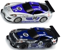 Scalextric K3000 GT Lightning 2 Pack w/ Sticker Sheet Decor - Damage Resistant