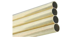 "K & S KS131 K&S Engineering Round Brass Tube - 1/4"" Outside Diameter x 12"" long"