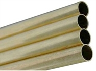 "K & S KS8140 K&S Engineering Round Brass Tubing - 17/32"" O.D. x 12"" long"