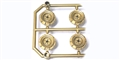 Monogram M5168 Set of 4 Wheels Monogram Stock Cars GOLD