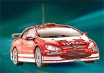 Revell M7122 1/32 Peugeot 307 WRC Rally Monte-Carlo 2004 #6 Red / White Livery.