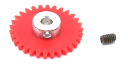 "MBSLOT MB08030 30 Tooth AW Spur Gear for 3/32"" Axle Setscrew Hub"