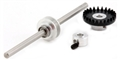 "MBSLOT MB17020 Ball Bearing Inline Crown Gear Pilot for 3/32"" Axle"