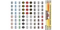 ULTRACAL MG3302 1/32 3 Digit Racing Numbers and Roundels