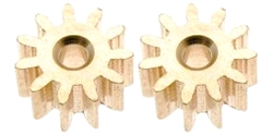 MRSLOTCAR MR4411 Pinion BRASS 11 Tooth 6.5mm Diameter 2.0mm Shaft
