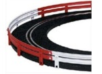 Ninco N10201 White / Red Armco Style Crash Barriers Ninco Straight Track or Curve Track