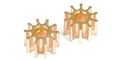 Ninco N80205 INLINE Pinion Gears - 10 Tooth Brass x 2