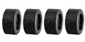 Ninco N80524 Treaded Tires 19.0 x 10mm x 4