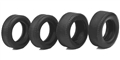 "Ninco N80525 1/32 ""Classic"" Treaded Tires - Set of 4 tires - 2 Narrow & 2 Wide"