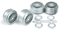 Ninco N80705 18 Spoke Plastic Wheels - Press Fit to 2.48mm Axles x 4