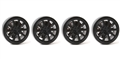 Ninco N80707 Plastic Wheels for 2.48mm Axles 10 Spoke BLACK