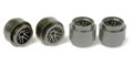 Ninco N80712 F1 / CART Plastic Wheels - Press Fit to 2.48mm Axles x 4