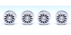 Ninco N80735 Megane Trophy Plastic Wheels - Press Fit to 2.48mm Axles x 4
