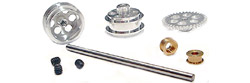 "NSR NSR4002 REAR AXLE KIT w/ 16"" WHEELS - SW SCALEXTRIC / FLY"