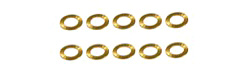 "NSR NSR4811 AXLE SPACERS 3/32 .010"" BRASS  (10pcs)"