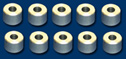 "NSR NSR4840 AXLE SPACERS 3/32 x 0.160"" Length ALUMINUM  (10pcs)"