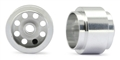 "NSR NSR5027 3/32 ALUMINUM REAR SPANISH WHEELS 13"" DIAMETER NO AIR SYSTEM  (2 PCS) - FORMULA NSR"
