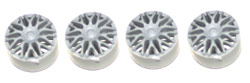 "NSR NSR5425 BBS type wheel inserts SILVER for 16"" Wheels"