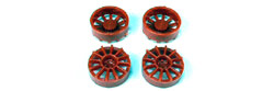 "NSR NSR5428 12 spoke wheel inserts RED for 17"" Wheels"