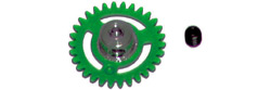 NSR NSR6629 3/32 PLASTIC ANGLEWINDER GEAR 29T GREEN for NSR AW 16mm