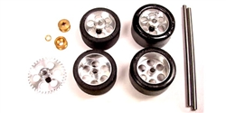 NSR NSR9212 Front + Rear Axle Kit Trued Tires SW Scalextric / Fly