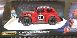 1/30 Pioneer P080 '37 Chevy Santa Legends Racer #25 Candy Cane Red