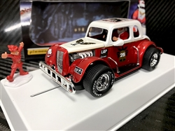 1/30 Pioneer P118  Pioneer Santa Legends Racer, '34 Ford Coupe, Red/White