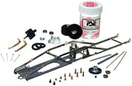 Parma P582K 1/24 EDGE Drag Chassis Kit - 1/24 Scale Inline Chassis for C Can or D can motors.