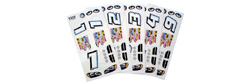 Parma P757D Stock Car Decals - 6 / package