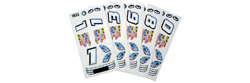 Parma P757F Stock Car Decals - 6 / package