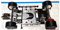 Plafit PL1700RB Super 24 Assembled 1/24 Chassis w/RUBBER Tires