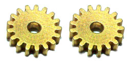 "Professor Motor PMTR1042 17 tooth brass SW pinions for 0.091""  shaft"