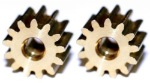 Professor Motor PMTR1103 13 tooth brass 64 Pitch press-on motor pinion gear