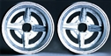 "Professor Motor PMTR1110F Lotus 30/40 1/24 Die Cast FRONT Wheels 1 Pair Fronts 1/8"" Axle"