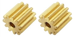 Professor Motor PMTR1173 11 Tooth Brass Pinions 48 pitch 2mm Shaft