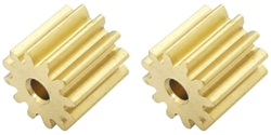 Professor Motor PMTR1174 12 Tooth Brass Pinions 48 pitch 2mm Shaft